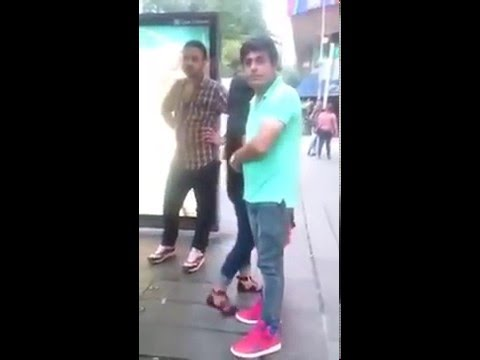 3 Men bullying 1 Pinoy lady