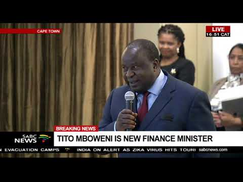 BREAKING NEWS: Tito Mboweni sworn in as new Minster of Finance