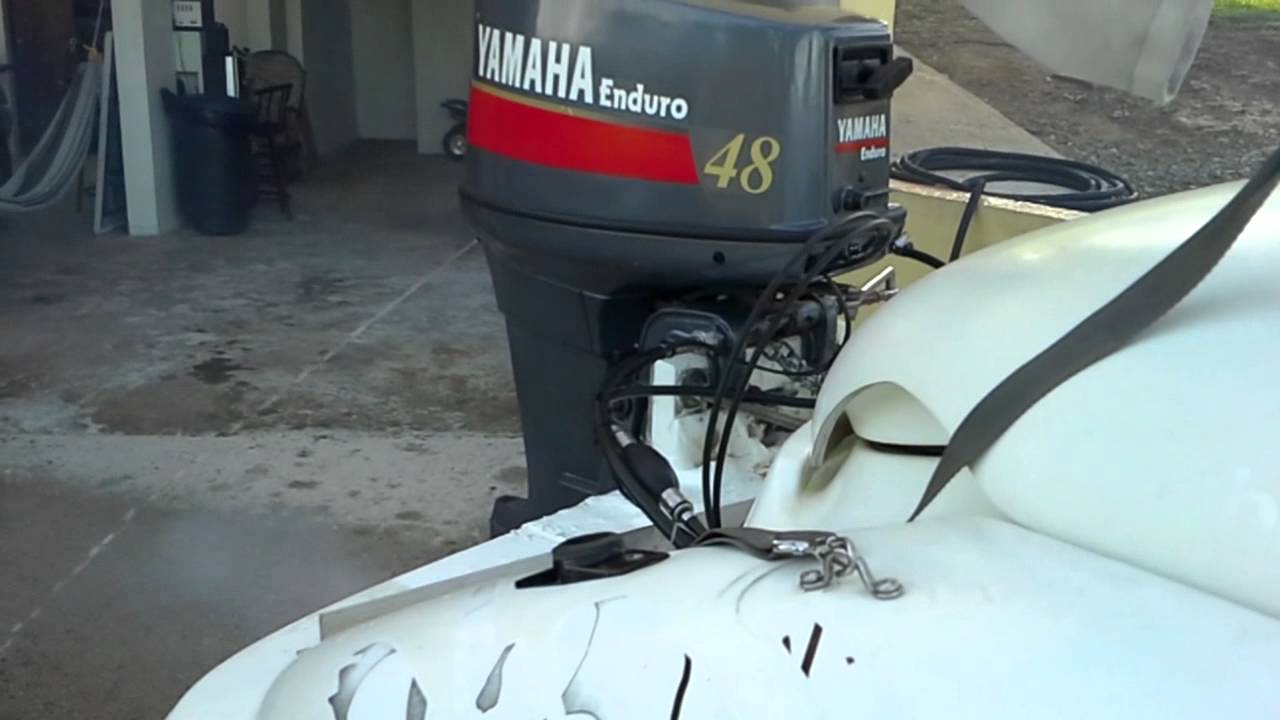 Home Made Outboard 97 Jet Boat With Yamaha 48 H P Youtube