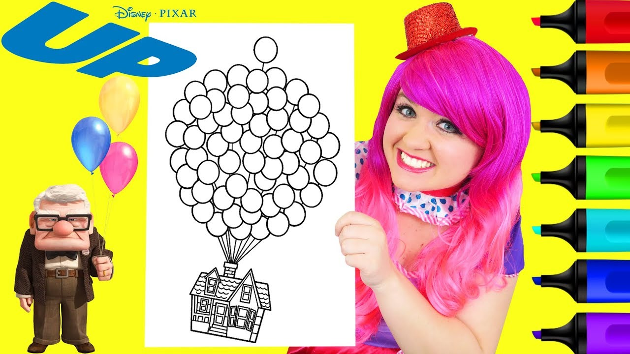 Coloring Disney Pixar Up House Balloons Coloring Page Prismacolor ...