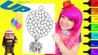 Coloring Disney Pixar Up House Balloons Coloring Page Prismacolor Markers   KiMMi THE CLOWN