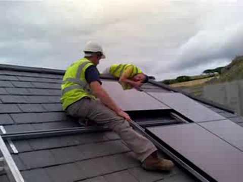 The money shot, solar roof starter unit.