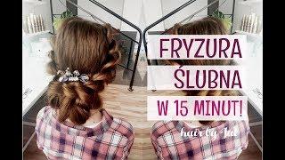 Prosta fryzura ślubna krok po kroku - hair by Jul