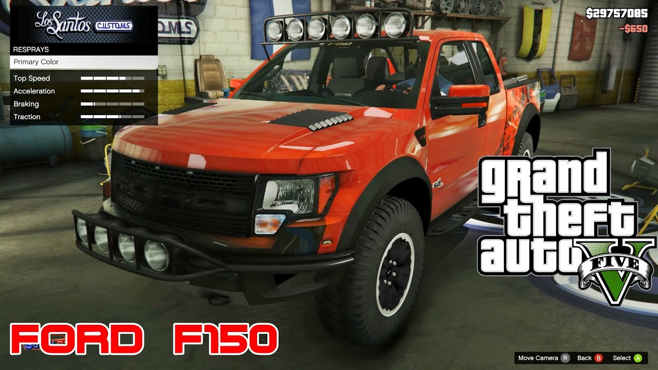 Gta V 🚗 Ford F150 Svt Raptor 2012 Youtube