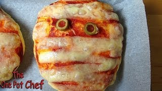 Mummy Pizzas - Halloween Recipe