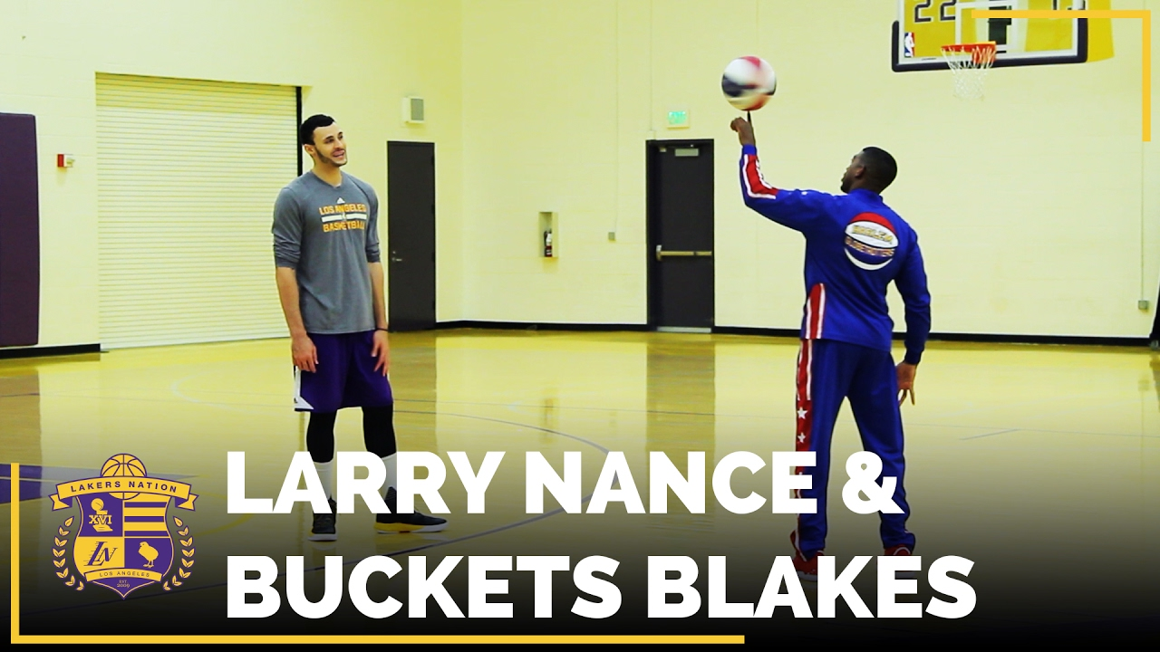 625b6d352a1a Larry Nance Jr. Shows Off His Handles With Harlem Globetrotters. Lakers  Nation