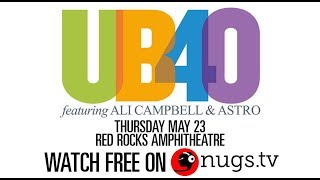 We're live with a free webcast of UB40 Featuring Ali Campbell and A...