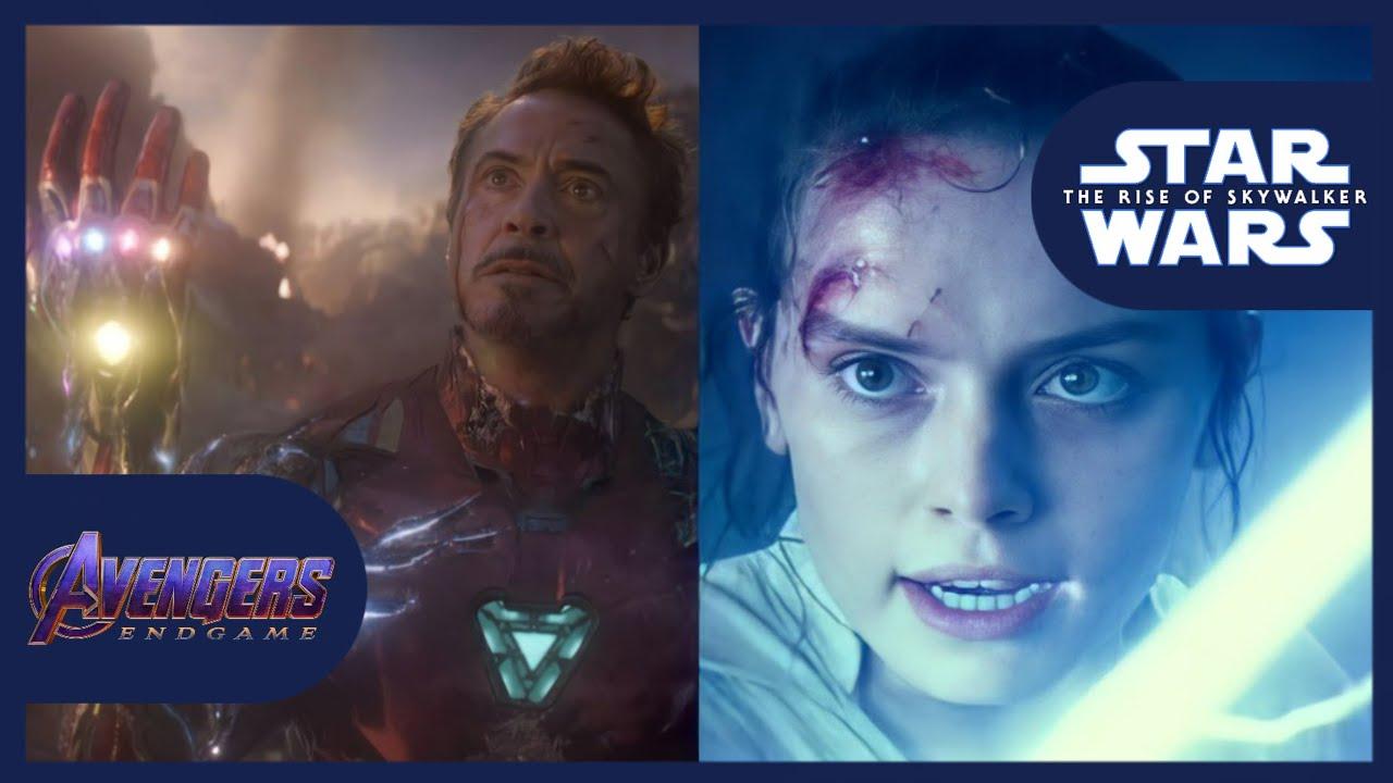 Star Wars The Rise Of Skywalker Avengers Endgame Final Battle Comparison Youtube
