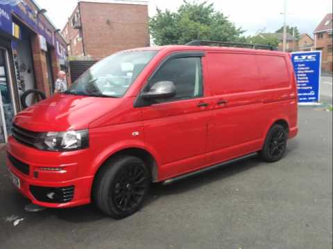 van tech vw transporter t4 t5 t6 accessories side bars roof rails and alloy wheels youtube. Black Bedroom Furniture Sets. Home Design Ideas
