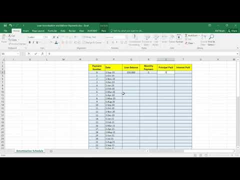 Loan Amortization And Balloon Payments Using MS Excel