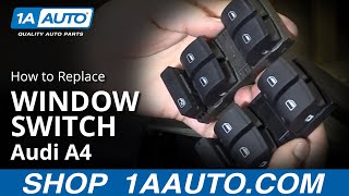 How to Install Replace Master Power Window Switch 2002-08 Audi A4
