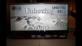 43 inch LG UHD 4K Smart tv with HDR 43uj62 unboxing and set up