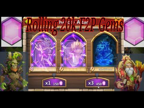 Castle Clash 20k F2P Gem Rolling - Uncover the Treasures