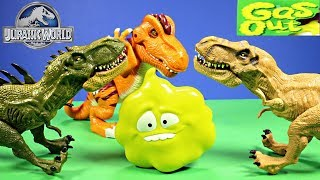 New Jurassic World Dinosaurs Play Gas Out Game From Mattel Unboxing - WD Toys