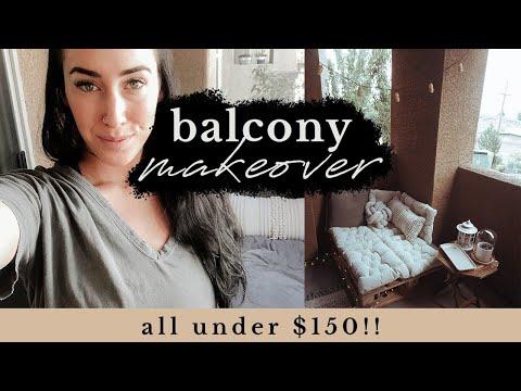 APARTMENT BALCONY MAKEOVER! Under $150 | Boho Home