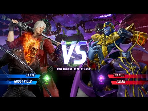 Marvel Vs. Capcom Infinite - Dante/Ghost Rider Vs. Thanos/Jedah (VERY HARD)