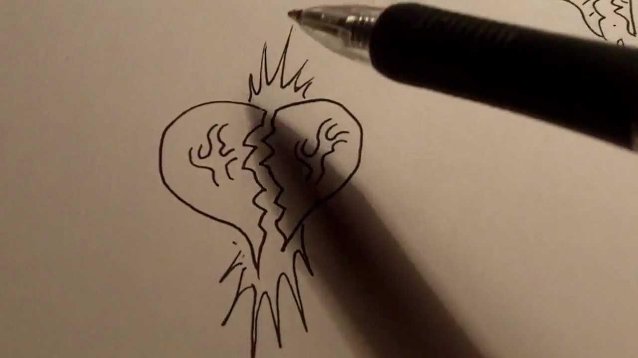 How To Draw Broken Heart