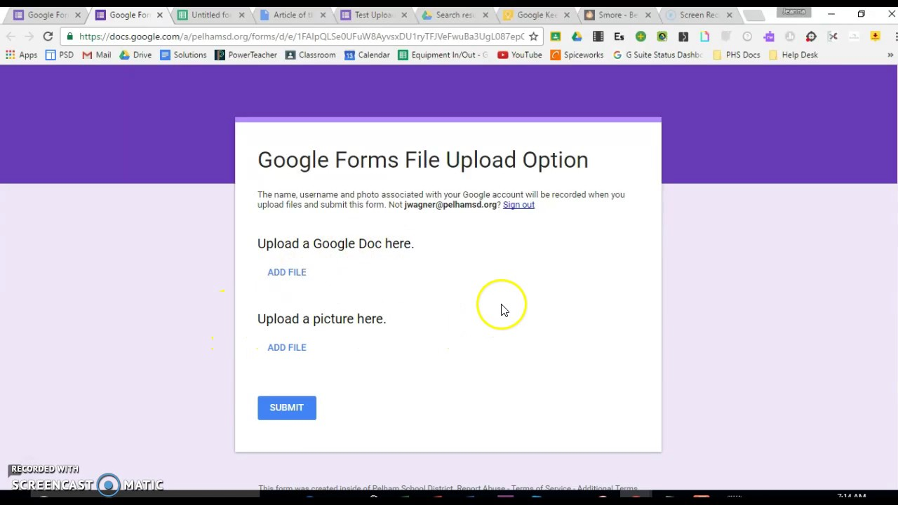 Google Forms Upload Option - YouTube