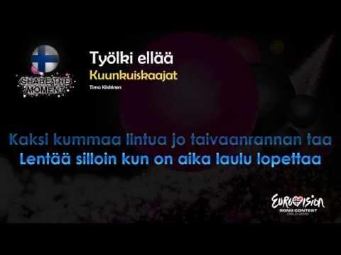 """Kuunkuiskaajat - """"Työlki Ellää"""" (Finland) - [Karaoke version]"""