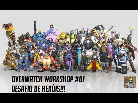 DESAFIO DE HERÓIS NO WORKSHOP!!! | Overwatch - Nerd Em 8 BITS