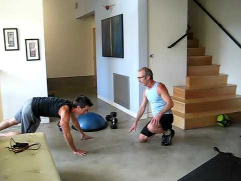 Tim Trost's session with actor and client, Bob Bancroft  Kaos part I; working out at 60
