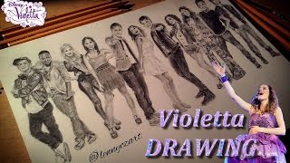 Drawing Violetta [all characters] | in photos