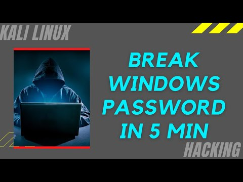Break Windows Passwd using Kali Live