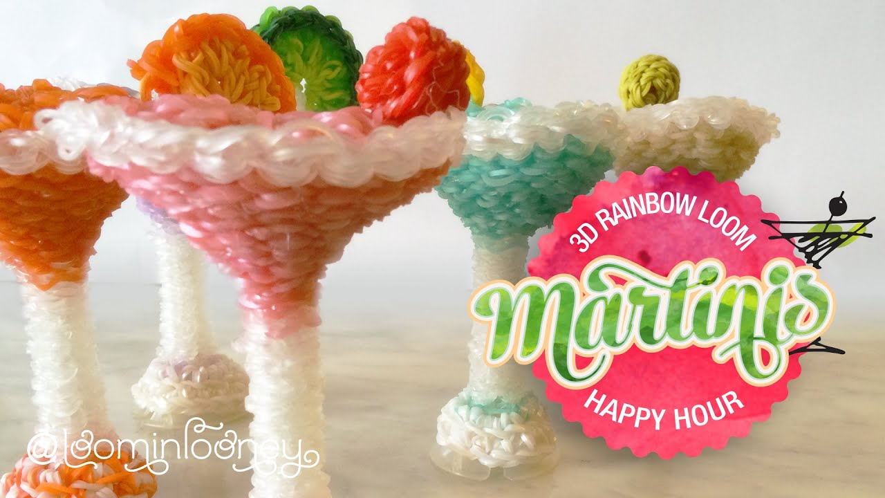 Loom Martinis 3d Rainbow Loom Cocktail Series Youtube