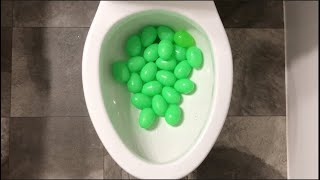 Will it Flush? - Easter Candy and Green Surprise Eggs