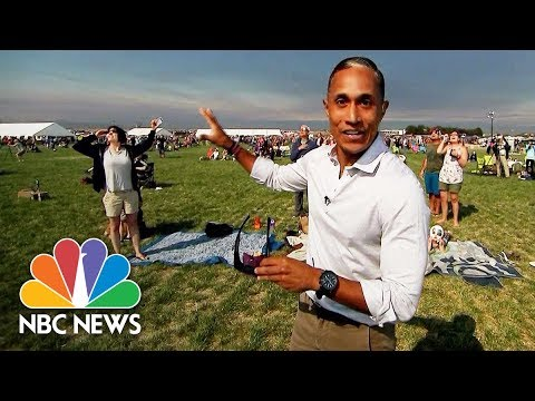 NBC News' Miguel Almaguer Gets Emotional Watching the Solar Eclipse | NBC News