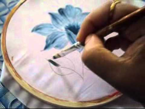how to apply dry strokes on fabric tutorial 19 youtube