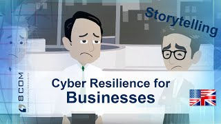 Cyber Resilience for Businesses - animated storytelling