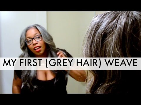 how to grey hair u part wig youtube