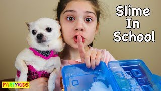HOW TO MAKE SLIME IN SCHOOL WITHOUT GETTING CAUGHT!!! (CHIHUAHUA DAY!)