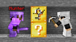 Minecraft Manhunt but the ores are Lucky Blocks..