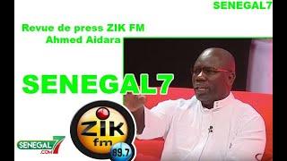 Revue de presse (Wolof) Zik Fm du Lundi 09 Décembre 2019 avec Ahmed Aidara