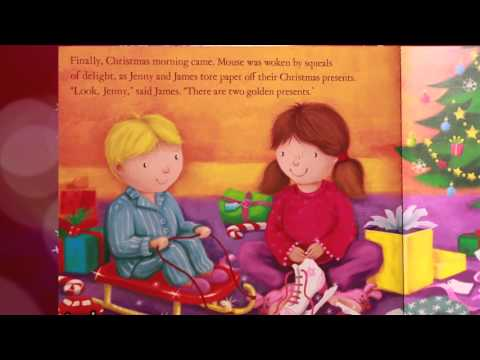 "Santa & Harvey read the book ""Letters to Santa"""