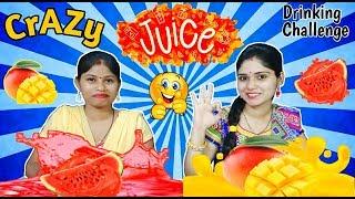 CRAZY JUICE CHALLENGE | Juice Challenge | Funny Food Challenge