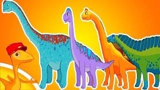 Поезд динозавров - помогите собрать новый поезд. Мультик про динозавров и доисторических животных
