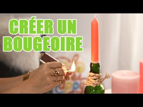 cr er soi m me un bougeoir avec une bouteille diy avec youmakefashion youtube. Black Bedroom Furniture Sets. Home Design Ideas