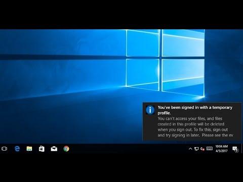 Fix Temporary Profile login Error on Windows 10 / 8 / 7 - YouTube