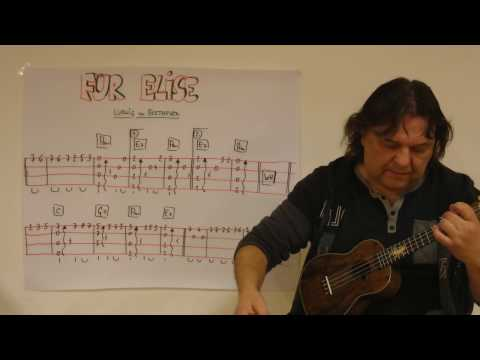 Fingerstyle Ukulele Lesson #67: FÜR ELISE (Ludwig van Beethoven)
