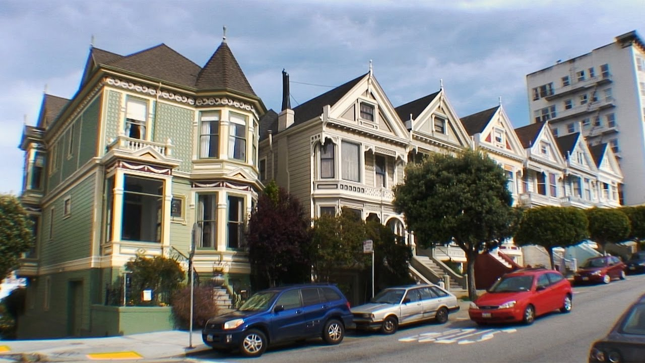 alamo square with the painted ladies san francisco california youtube. Black Bedroom Furniture Sets. Home Design Ideas