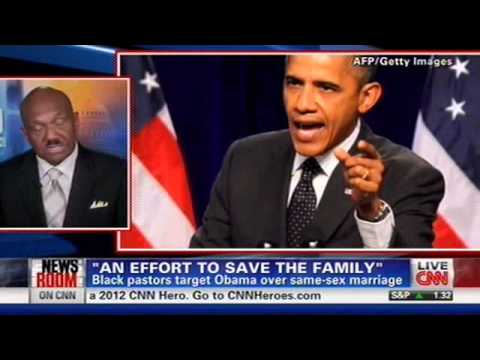 Rev. Bill Owens Protesting President Obama's Same-Sex Marriage Support on CNN 8/1/2012