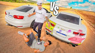 DESAFIEI O CAMARO V8 DO LEO vs MEU JETTA STAGE 2