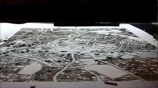 Laser Cut Tokyo Map by CutMaps