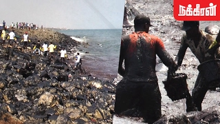 Ennore Oil spill pollutes Chennai shoreline(Exclusive Story)