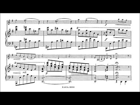 Beer, Leopold J.  Violin Concertino op.47 for violin + piano