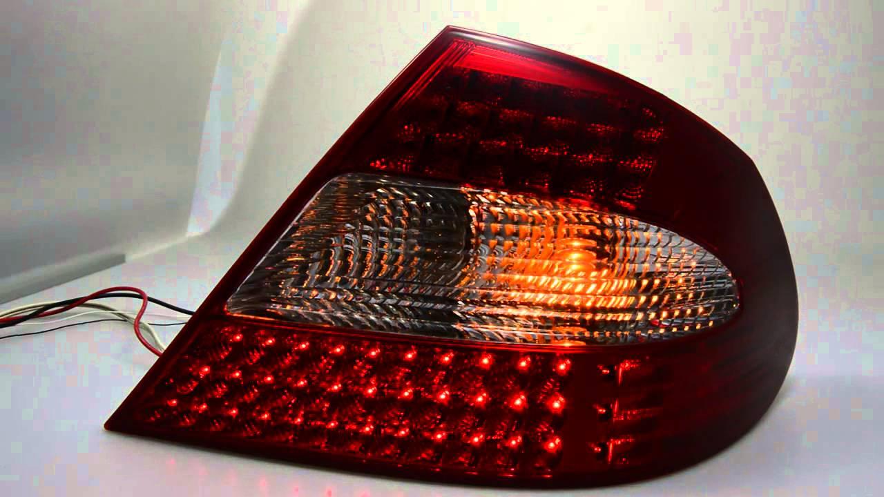 led r ckleuchte mercedes clk w209 red clear sw tuning. Black Bedroom Furniture Sets. Home Design Ideas