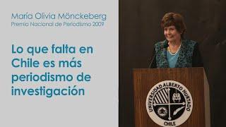 """María Olivia Mönckeberg: """"Lo que falta en Chile es más periodismo de investigación"""""""